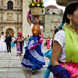 Wedding procession, Zocalo, Oaxaca