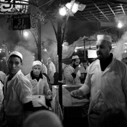 Kebaab/Tajine stall on Jama el Fina square, Marrakech