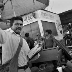 Preacher at the market, Antigua, Sacatepequez