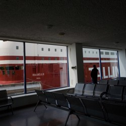 Riga, Latvia – waiting room of Nordic cruise lines